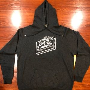 NEW PINK DOLPHIN GRAY HOODIE